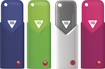 EMTEC - Click 16GB USB 2.0 Flash Drive - Navy Blue/Lime Green/Gray/Pink