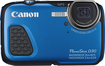 Canon - PowerShot D-30 12.1-Megapixel Digital Camera - Blue