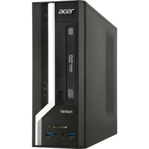 Acer - Veriton Desktop - AMD E-Series - 4GB Memory - 500GB Hard Drive - Black