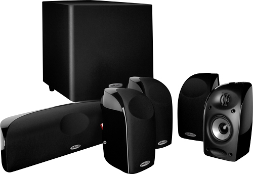Polk Audio - Blackstone TL1600 5.1-Channel Home Theater Speaker System - Black