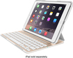 Belkin - Ultimate Pro Keyboard Case For Apple® Ipad® Air 2 - Gold/white