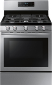 "Samsung - 30"" Self-Cleaning Freestanding Gas Convection Range - Stainless-Steel"