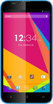 Blu - Dash 5.5 4G with 4GB Memory Cell Phone (Unlocked) - Blue