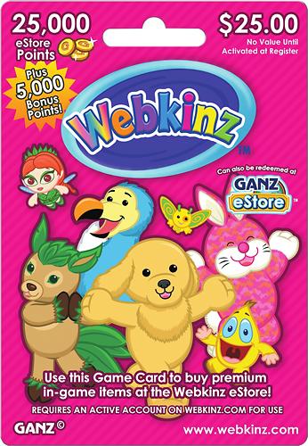 Webkinz - $25 eStore Gift Card