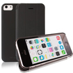 RevJams - FlipBack Smart Case/Cover with Stand for iPhone 5C - Black