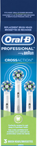 Oral-B - Cross Action Brush Heads (3-Pack) - White