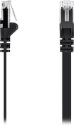 Belkin - 3' Cat-6 Flat Network Cable - Black