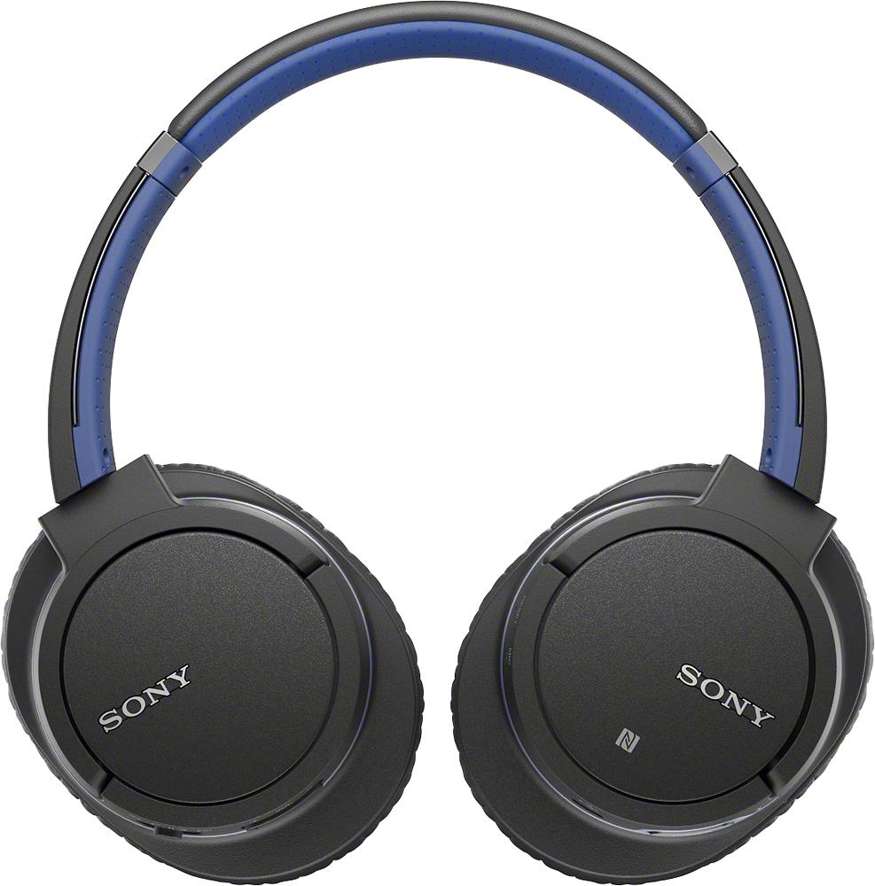 Sony - Wireless Over-the-ear Stereo Headphones - Blue