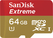 SanDisk - Extreme 64GB microSDXC Class 10 UHS-1 Memory Card - Red/Gold