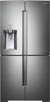 Samsung - Chef Collection 34.3 Cu. Ft. 4-Door French Door Refrigerator with Thru-the-Door Ice and Water - Stainless-Steel