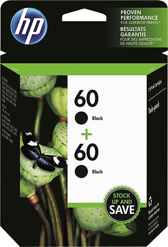 HP - 60 2-Pack Black Original Ink Cartridges - Black