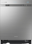 "Samsung - WaterWall Chef Collection 24"" Built-In Dishwasher - Stainless-Steel"