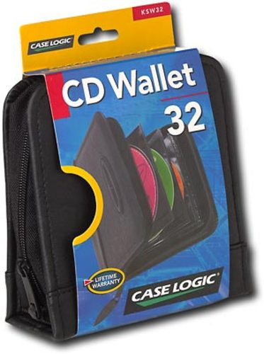 Case Logic - 32-Disc CD Wallet - Black