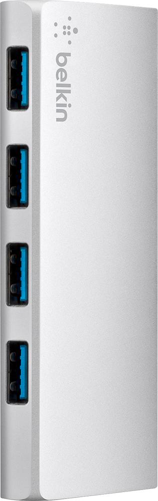 Belkin - 4-Port USB 3.0 Hub - Aluminum