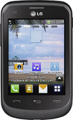 TRACFONE - LG 306G No-Contract Cell Phone - Black