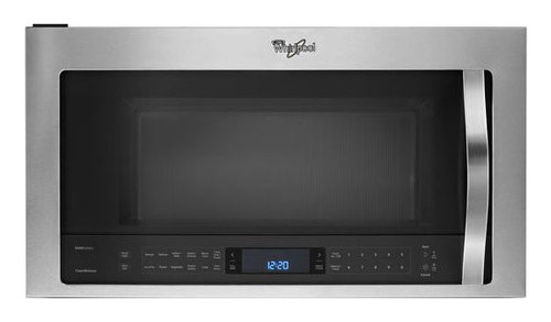 Whirlpool - 2.1 Cu. Ft. Over-the-Range Microwave - Stainless Steel