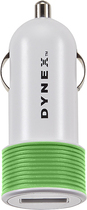 Dynex™ - USB Vehicle Charger - Green