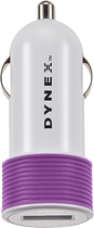 Dynex™ - USB Vehicle Charger - Orchid