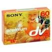 Sony - DVM60PRL3BPWM 60-min DVC Premium-Grade Chipless Videocassette 3 Pack