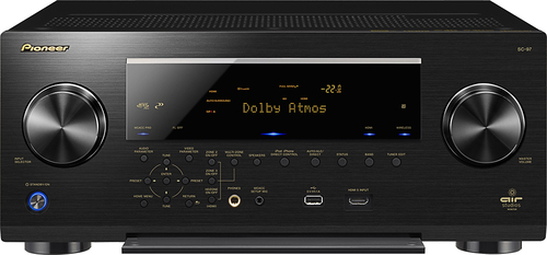 Pioneer Elite - 810W 9.2-Ch. Network-Ready 4K Ultra HD and 3D Pass-Through A/V Home Theater Receiver - Black