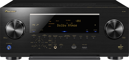 Pioneer Elite - 850W 9.2-Ch. Network-Ready 4K Ultra HD and 3D Pass-Through A/V Home Theater Receiver - Black