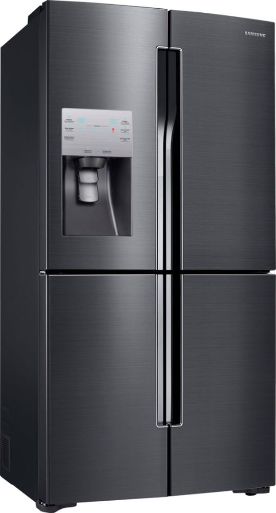Samsung   22.5 Cu. Ft. Counter Depth 4 Door Flex French Door Refrigerator  With Convertible Zone   Black Stainless Steel At Pacific Sales