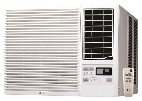 LG - 12,000 BTU Window Air Conditioner and 11,200 BTU Heater - White
