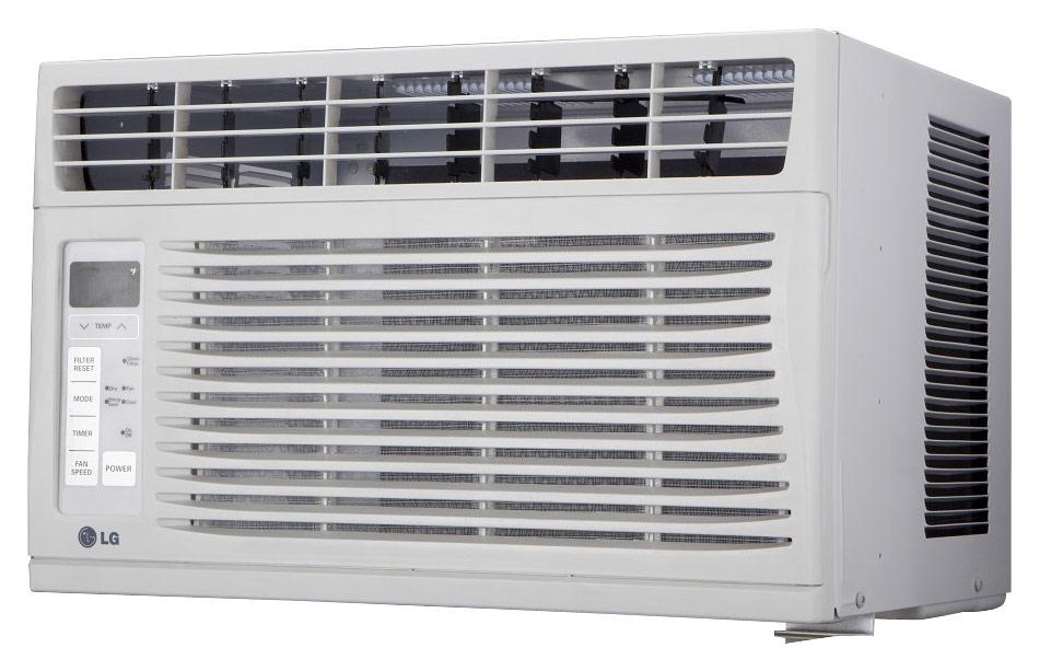 LG - 6,000 BTU Window Air Conditioner - White