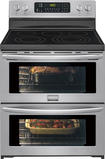 "Frigidaire - Gallery 30"" Self-Cleaning Freestanding Double Oven Electric Convection Range - Stainless-Steel"