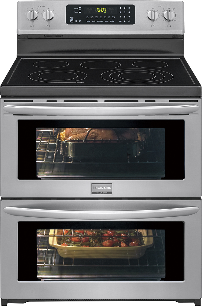 Do Frigidaire gallery oven manuals offer troubleshooting for problems?