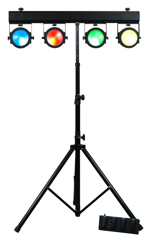American Dj - Dotz Tpar Tri-color Led Par Can Lighting System - Black 4208513