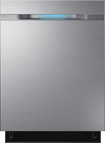 "Samsung - WaterWall 24"" Tall Tub Built-In Dishwasher - Stainless-Steel"