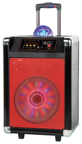 Supersonic - Portable Bluetooth DJ Speaker - Black/Red