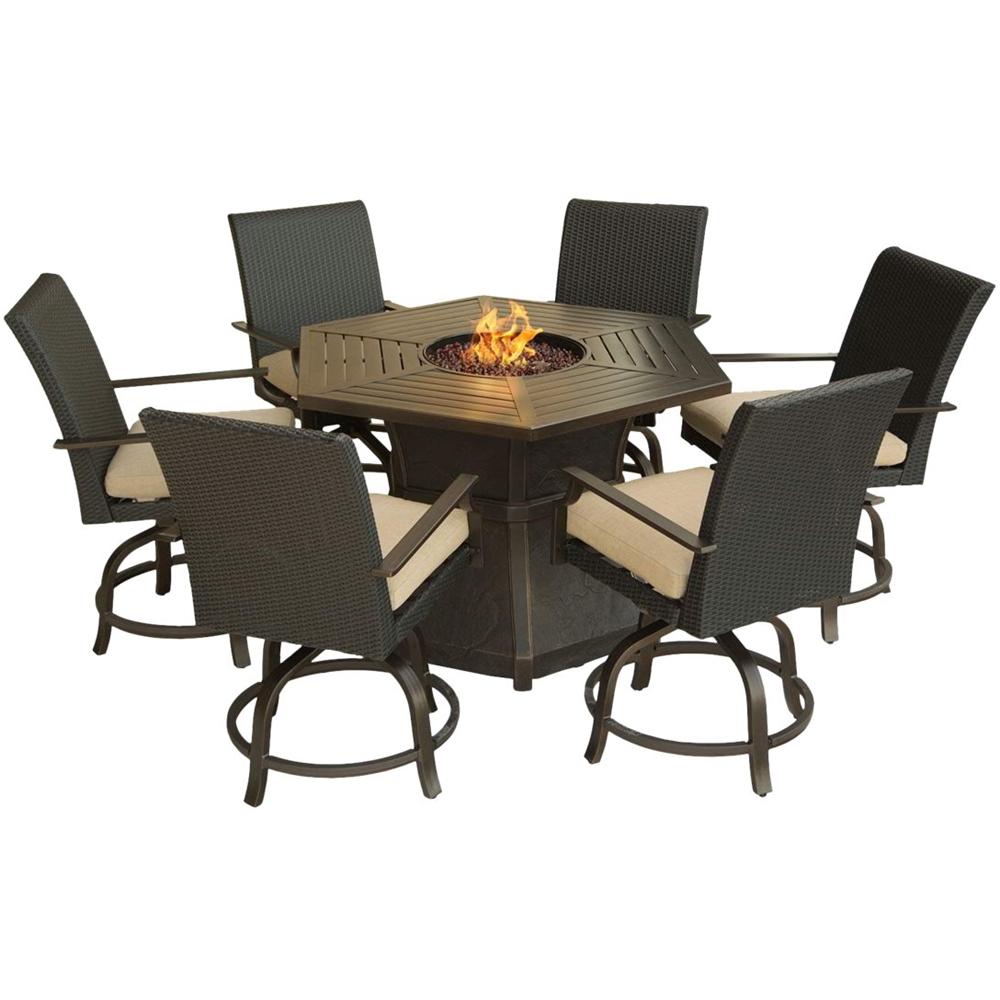 Hanover - Aspen Creek 7-piece Furniture Set - Dark Oak/natur
