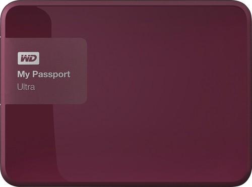 WD - My Passport Ultra 3TB External USB 3.0 Portable Hard Drive - Wild Berry