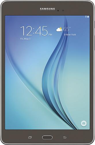 Samsung - Geek Squad Certified Refurbished Galaxy Tab A - 8 - 16GB - Smoky Titanium