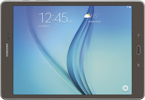 Samsung - Geek Squad Certified Refurbished Galaxy Tab A - 9.7 - 16GB - Smoky Titanium