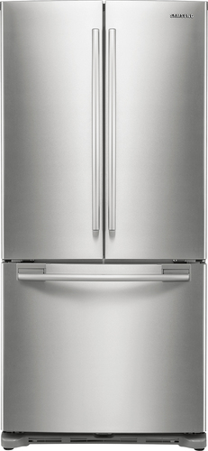 Samsung - 17.5 Cu. Ft. Counter-Depth French Door Refrigerator - Stainless Platinum