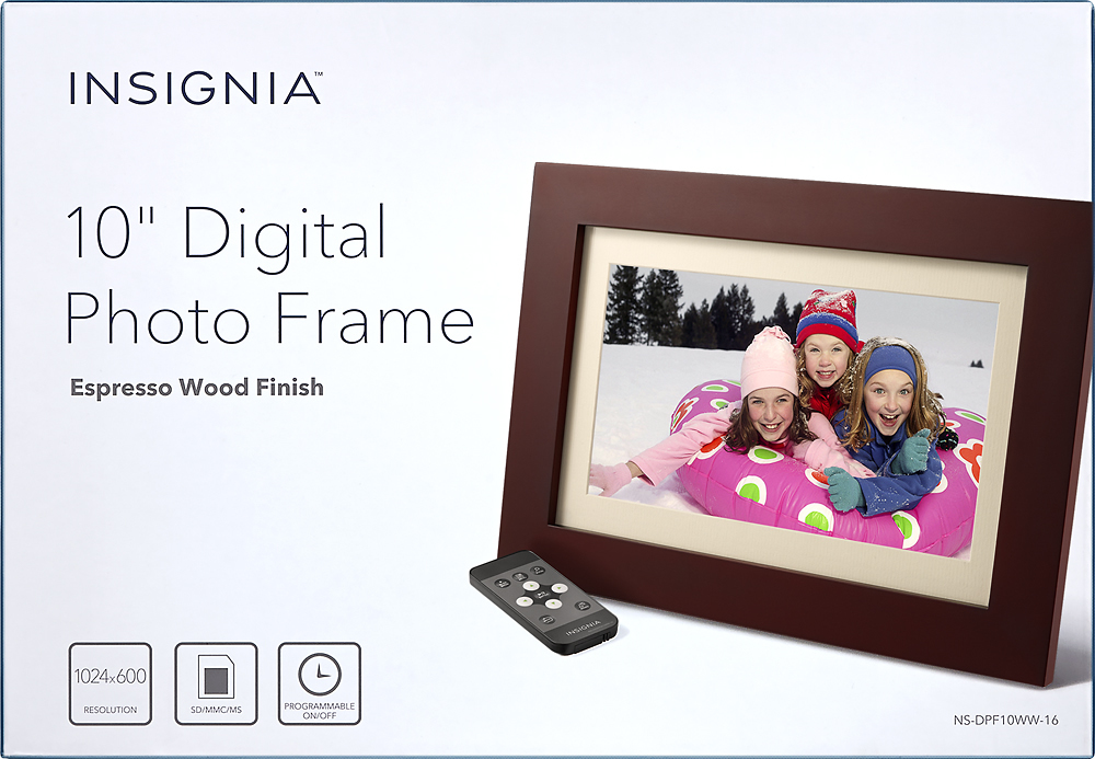 insignia 10 digital photo frame brown ns dpf10ww 16 best buy