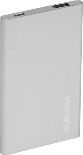 myCharge - RAZOR PLUS USB Portable Power Bank - Silver