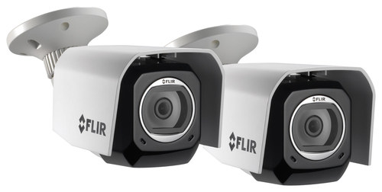 Flir - FX Wireless Surveillance Cameras (2-Pack) - Black