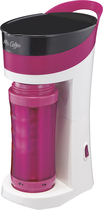 Mr. Coffee - Brew Pour and Go Single-Serve Coffeemaker - Pink