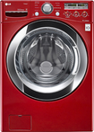 LG - SteamWasher 4.0 Cu. Ft. 9-Cycle Ultralarge-Capacity High-Efficiency Steam Front-Loading Washer - Wild Cherry Red