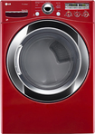 LG - SteamDryer 7.3 Cu. Ft. 9-Cycle Ultralarge-Capacity Steam Gas Dryer - Wild Cherry Red