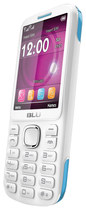 Blu - Jenny TV 2.8 T176T Cell Phone (Unlocked) - White/Blue