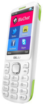 Blu - Jenny TV 2.8 T176T Cell Phone (Unlocked) - White/Lime