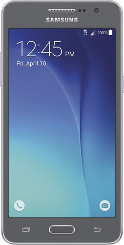 T-Mobile Prepaid - Samsung Galaxy Grand Prime 4G with 8GB Memory No-Contract Cell Phone - Gray