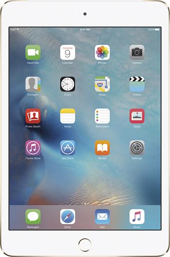 Apple - iPad mini 4 Wi-Fi + Cellular 128GB - Gold