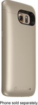 mophie - juice pack External Battery Case for Samsung Galaxy S6 edge Cell Phones - Gold