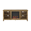 Walker Edison - Tv Stand With Electric Fireplace For Most Tvs Up To 60\